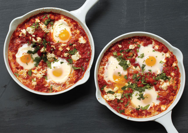 Homemade Ricotta With Baked Eggs And Tomato Sauce Recipes — Dishmaps